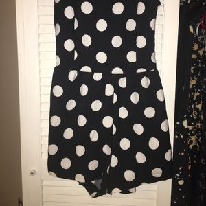 Sassy polka romper - would list as a small